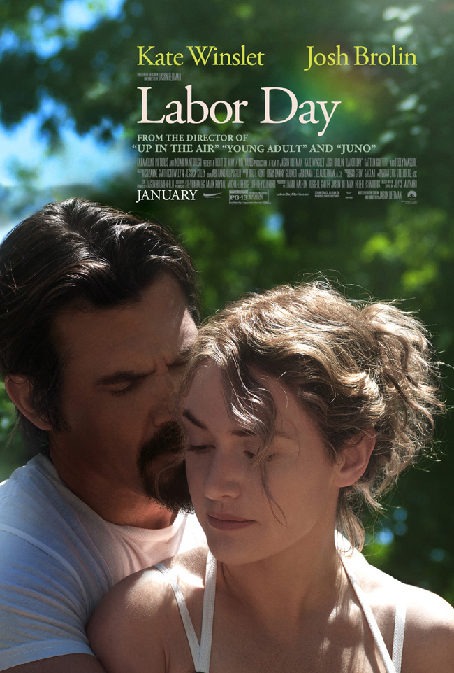 The movie poster for Labor Day starring Kate Winslet and Josh Brolin
