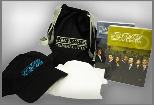 Our prize pack for the final season of Law and Order: Criminal Intent