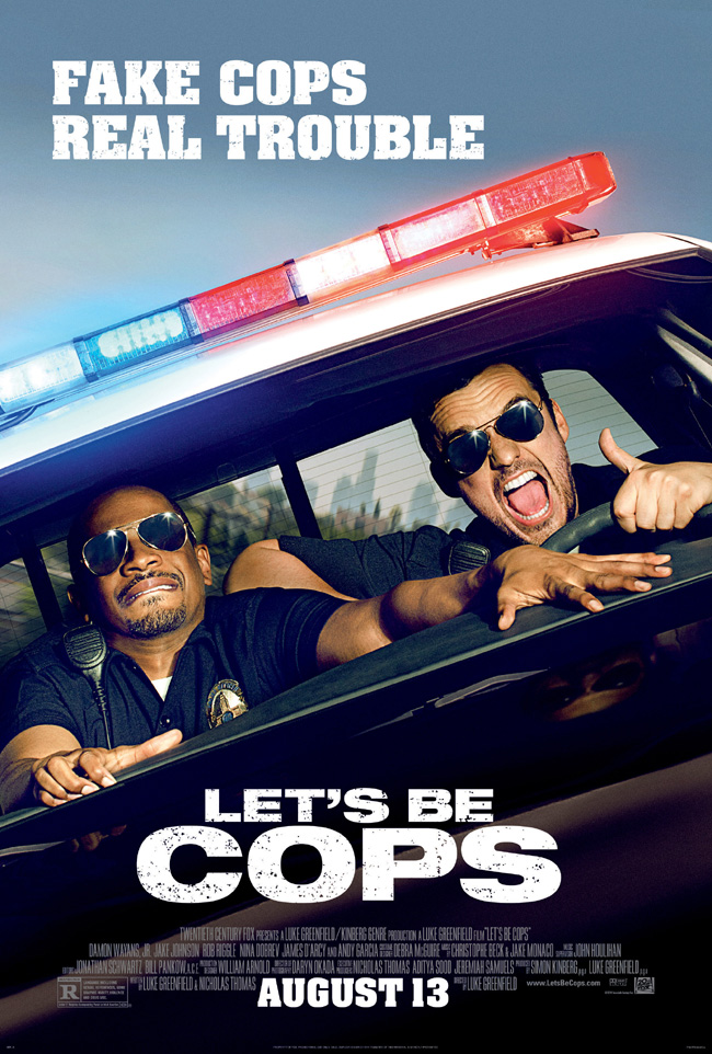 The movie poster for Let's Be Cops starring Damon Wayans Jr. and Jake Johnson