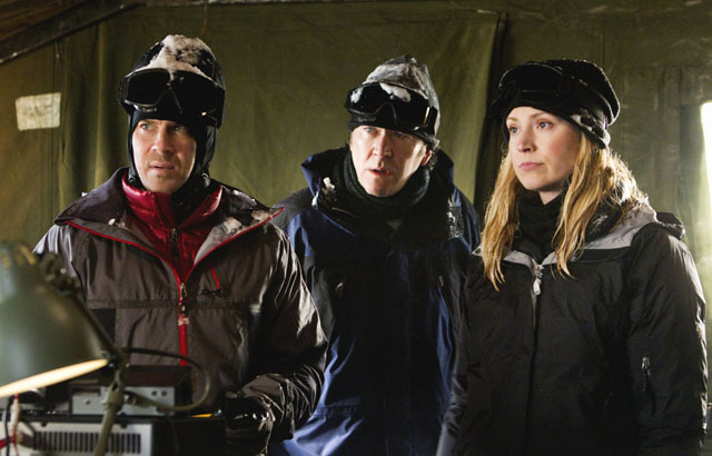 Ice Station 'Leverage': Eliot (Christian Kane), Nathan (Timothy Hutton) and Parker (Beth Riesgraf)