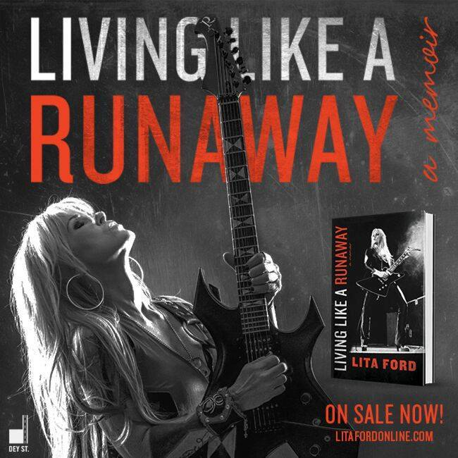 Lita Ford's new memoir Living Like a Runaway