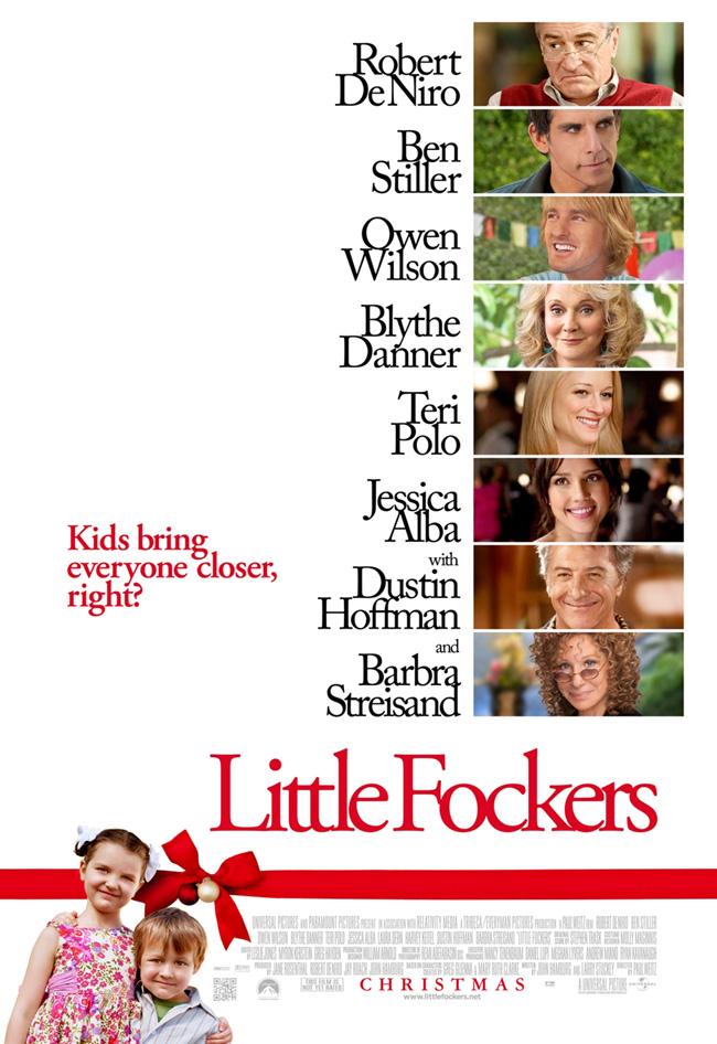 The movie poster for Little Fockers with Robert De Niro and Ben Stiller