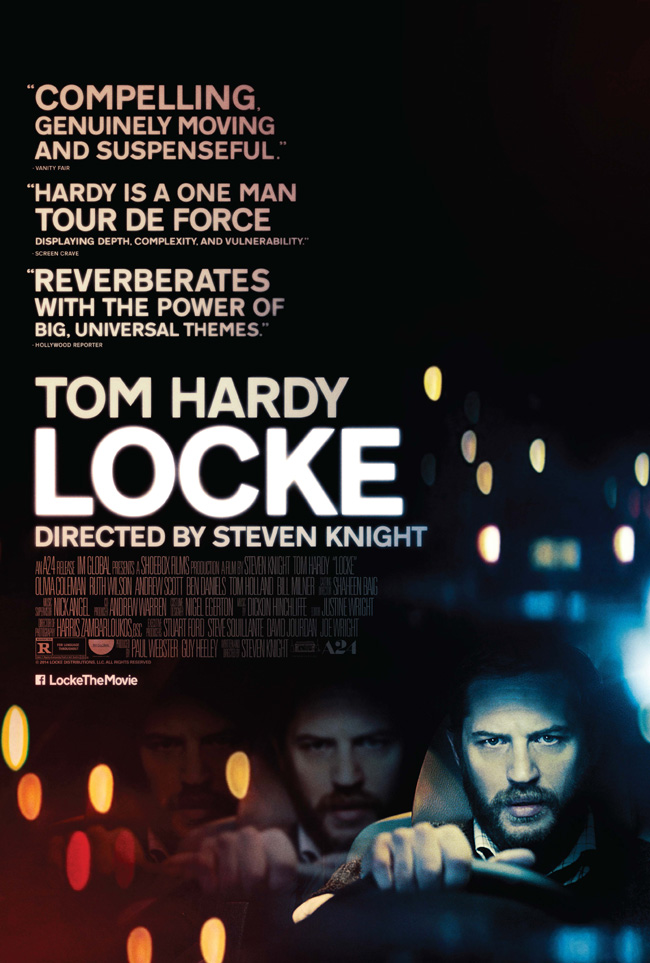 The movie poster for Locke starring Tom Hardy