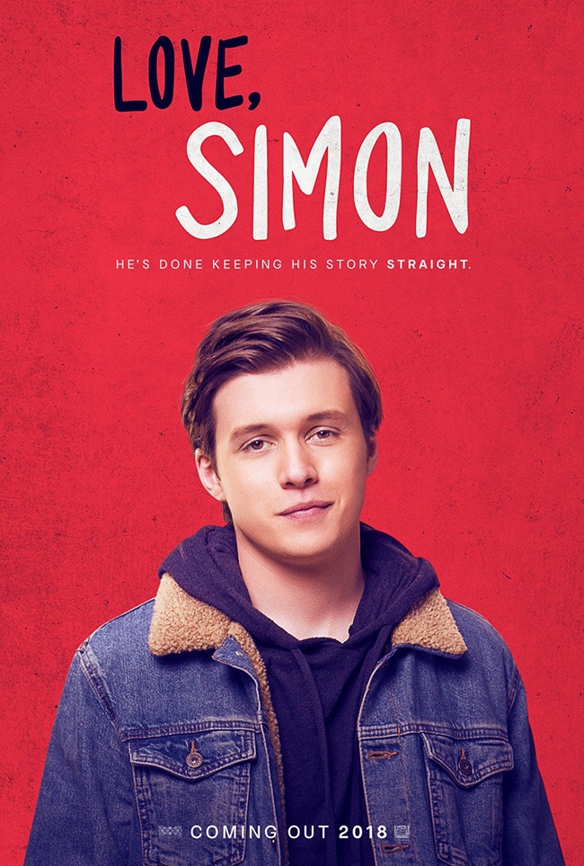 The movie poster for Love, Simon starring Nick Robinson