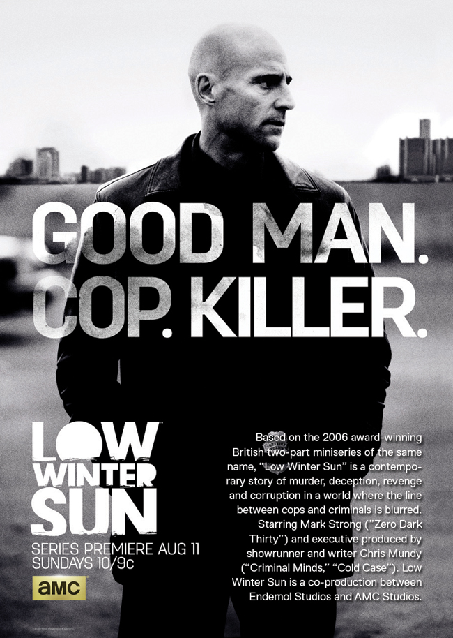 The TV poster for Low Winter Sun with Mark Strong