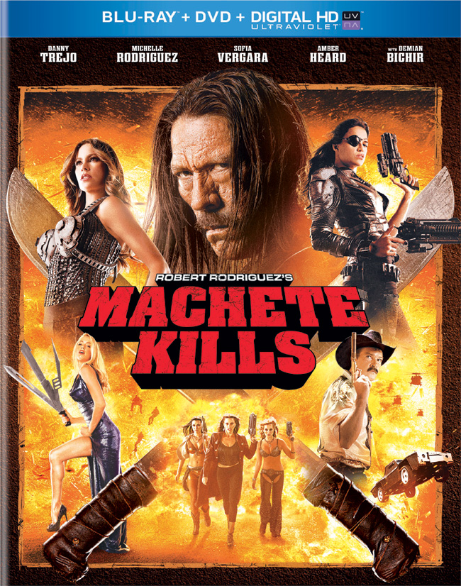 Machete Kills with Danny Trejo from Robert Rodriguez came to Blu-ray and DVD combo pack on Jan. 21, 2014