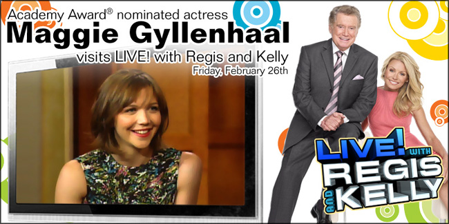 Maggie Gyllenhaal on LIVE! with Regis and Kelly