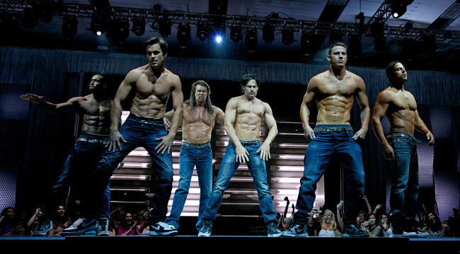 Stephen Boss, Matt Bomer, Kevin Nash, Joe Manganiello, Channing Tatum and Adam Rodriguez Magic Mike XXL