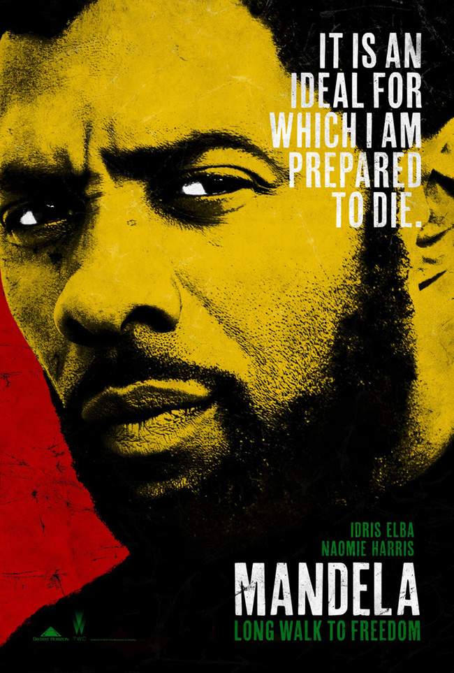 The movie poster for Mandela: Long Walk to Freedom starring Idris Elba