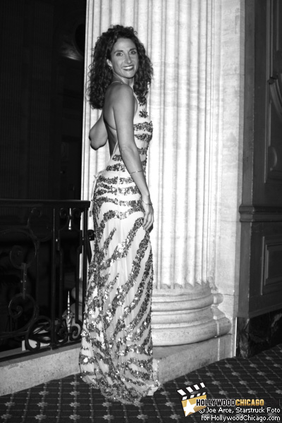 Melina K. Posing Appropriately Before a Greek–style Column, Chicago, June 19, 2009