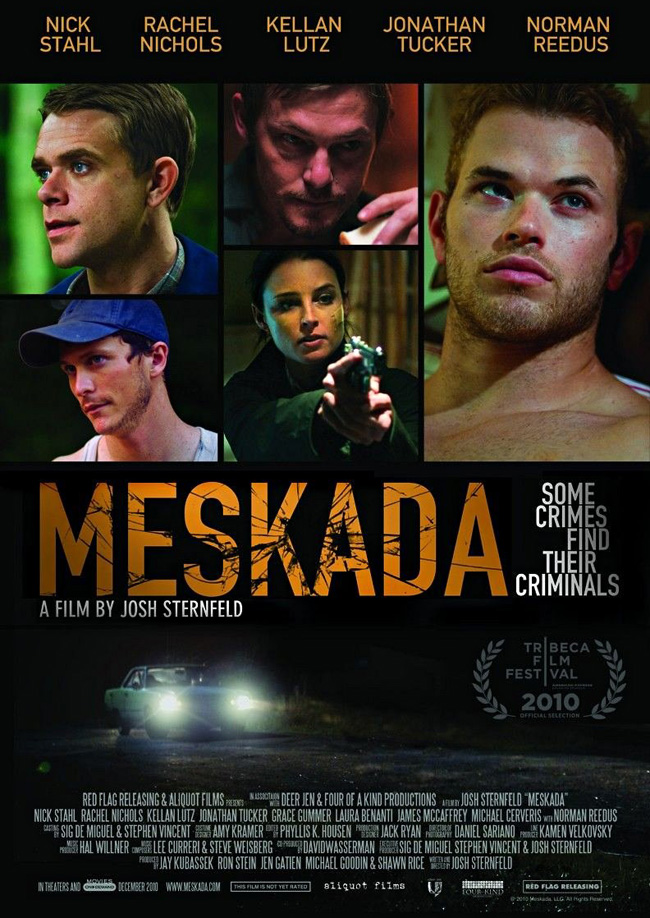 The movie poster for Meskada with Kellan Lutz and Nick Stahl