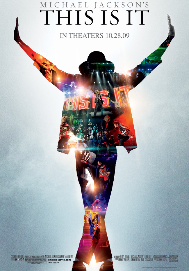 The poster for the Michael Jackson's This is It concert film