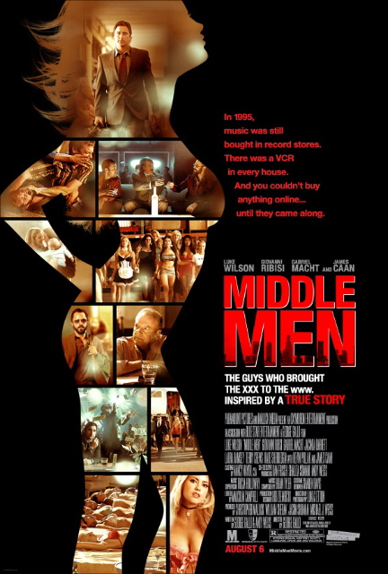 The movie poster for Middle Men with Luke Wilson