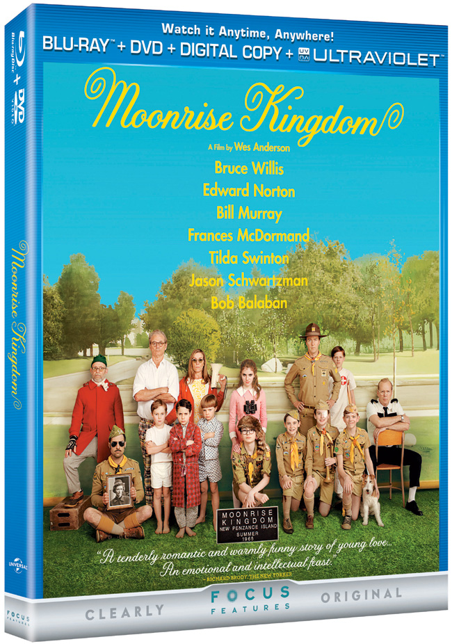 Moonrise Kingdom released on Blu-ray and DVD combo pack on Oct. 16, 2012