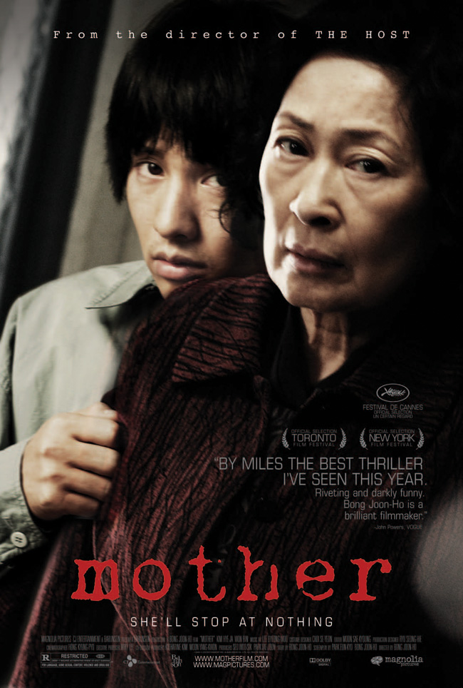 The movie poster for Mother from the award-winning director of The Host