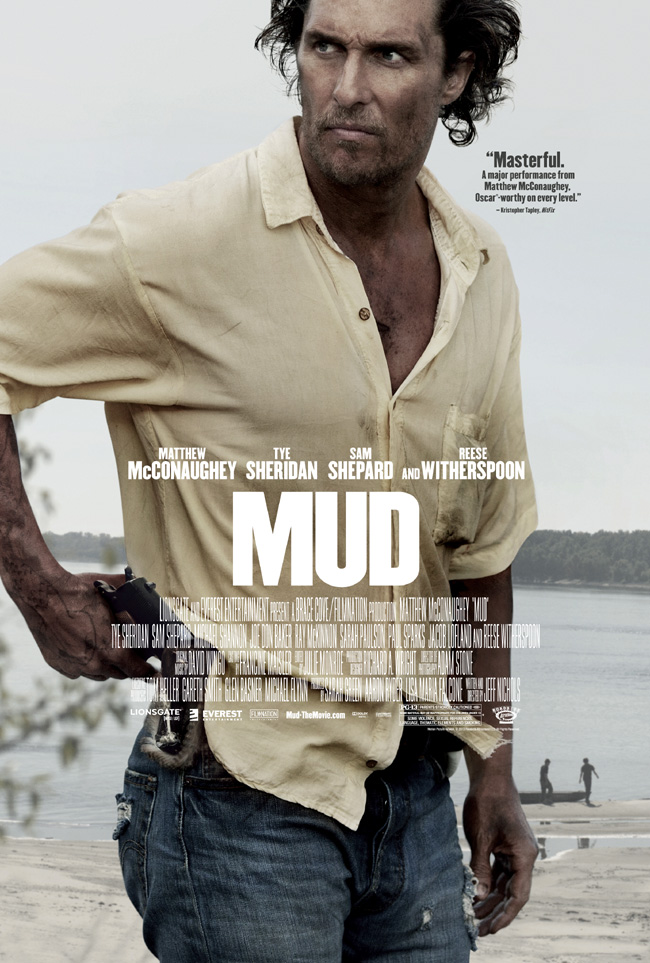 The movie poster for Mud starring Matthew McConaughey and Reese Witherspoon