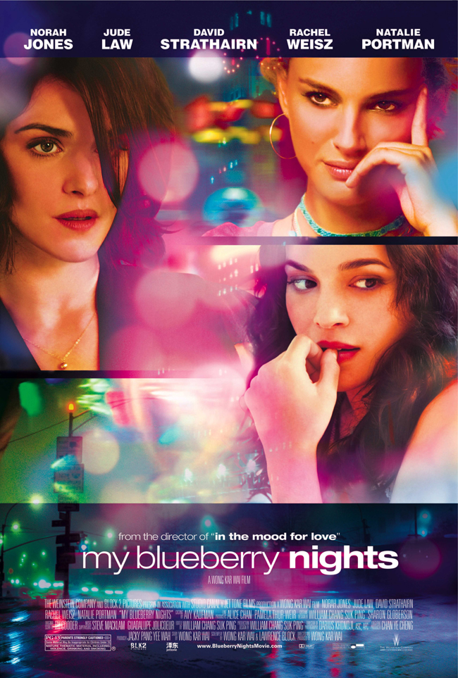 Movie poster for My Blueberry Nights