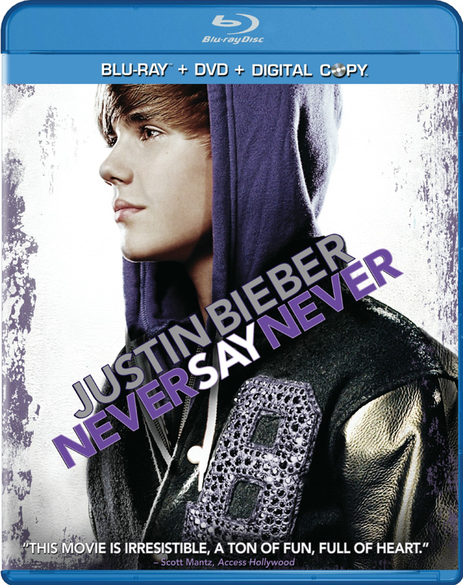 justin bieber never say never dvd release date. The DVD for Justin Bieber: