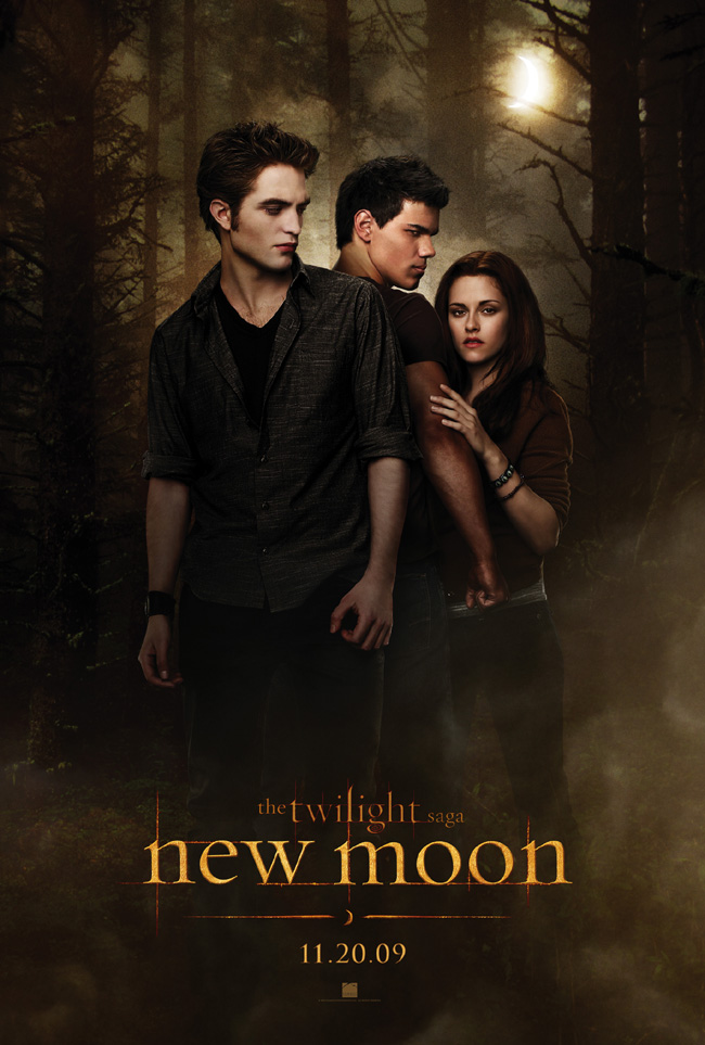 The official poster for The Twilight Saga: New Moon