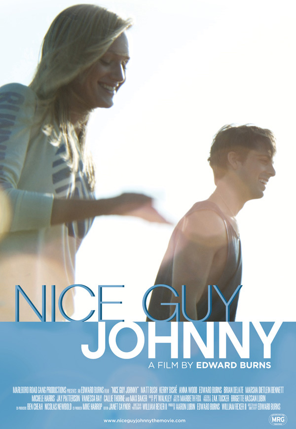 The movie poster for Nice Guy Johnny from writer and director Edward Burns