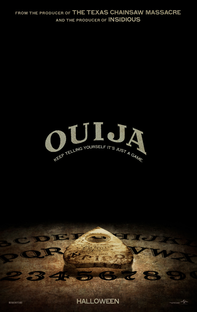 The movie poster for Ouija starring Olivia Cooke, Daren Kagasoff and Ana Coto