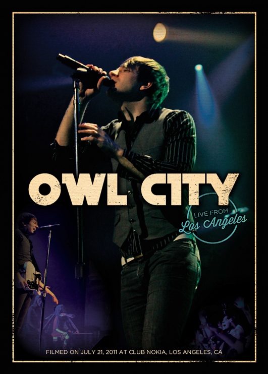 Owl City: Live From Los Angeles is available on Feb 7, 2012 on Blu-ray and DVD