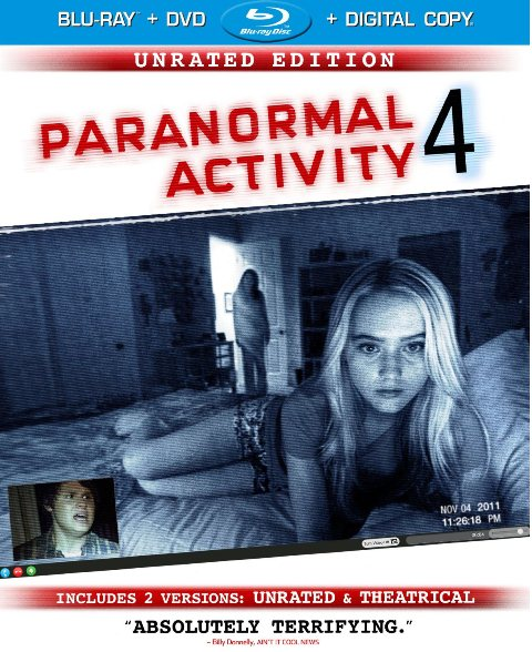 Paranormal Activity 4 was released on Blu-ray and DVD on January 29, 2013