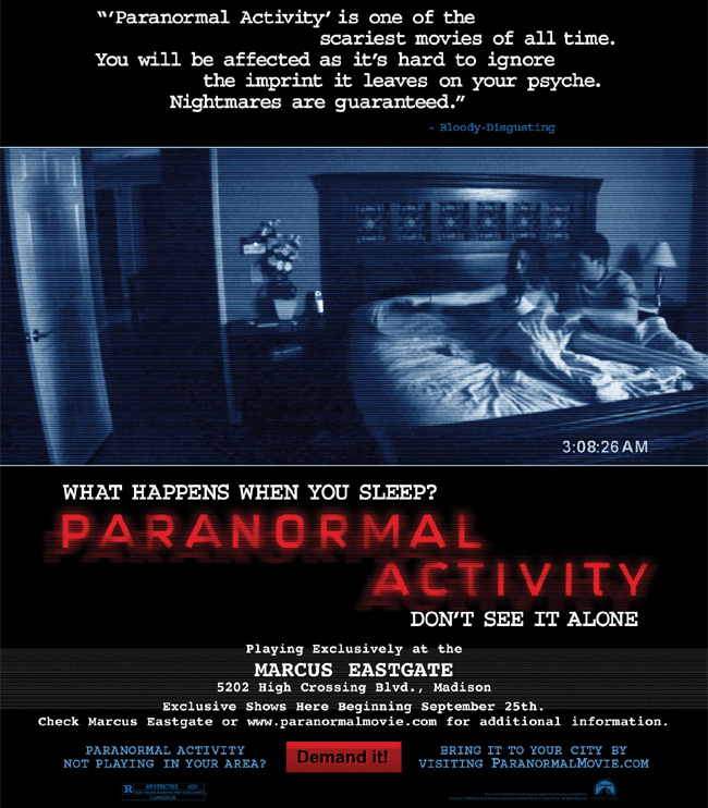free paranormal activity tickets chicago free tickets to