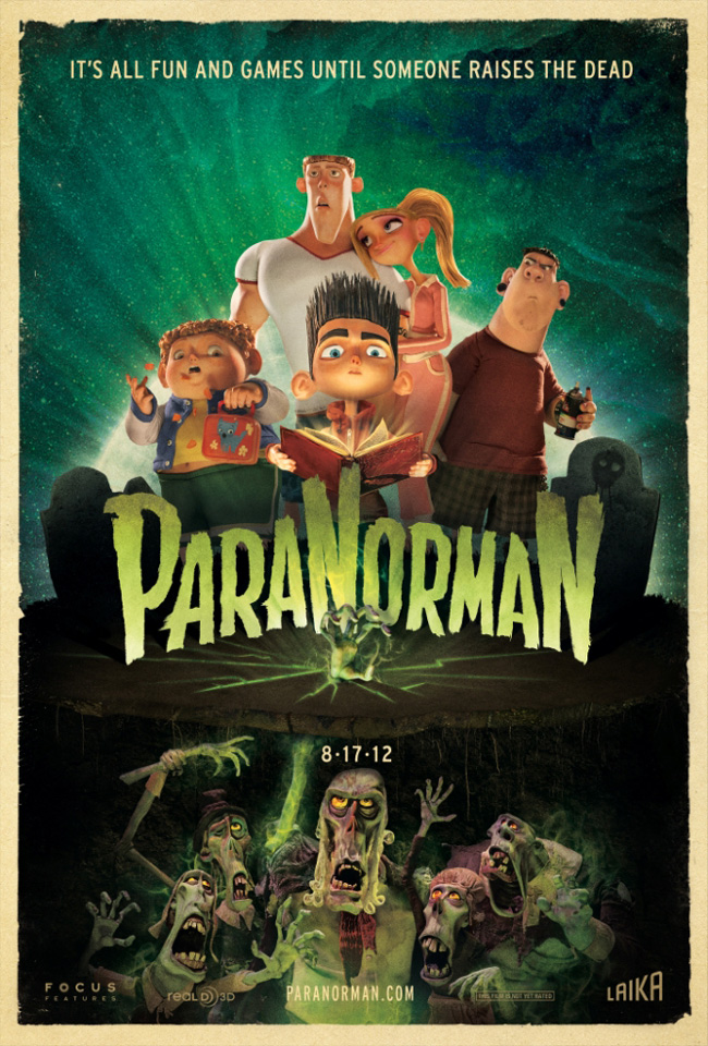 The ParaNorman movie poster with Kodi Smit-McPhee, Anna Kendrick and Casey Affleck