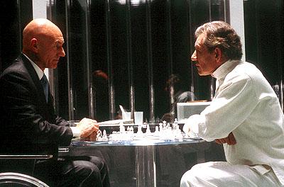 Ian McKellen and Patrick Stewart in X-Men.