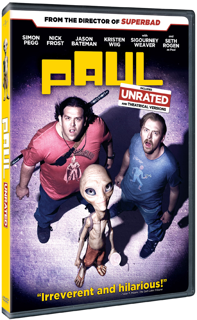 Paul debuts on DVD, Blu-ray and digital download on Aug. 9, 2011