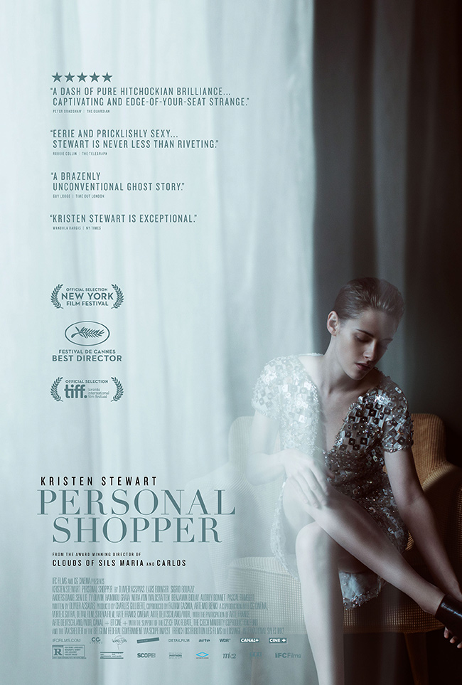 The movie poster for Personal Shopper starring Kristen Stewart