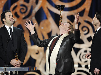 Philippe Petit of Man on Wire at the 2009 Oscars