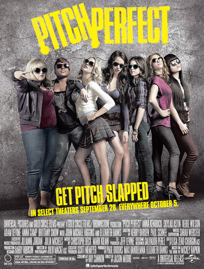 The movie poster for Pitch Perfect starring Anna Kendrick from producer Elizabeth Banks