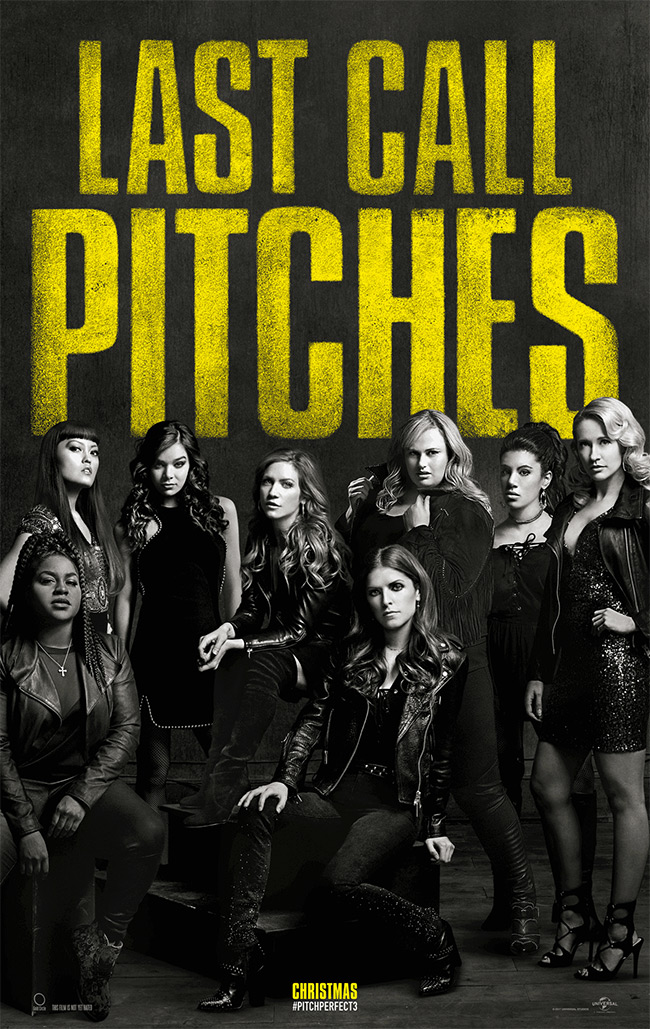 The movie poster for Pitch Perfect 3 starring Anna Kendrick