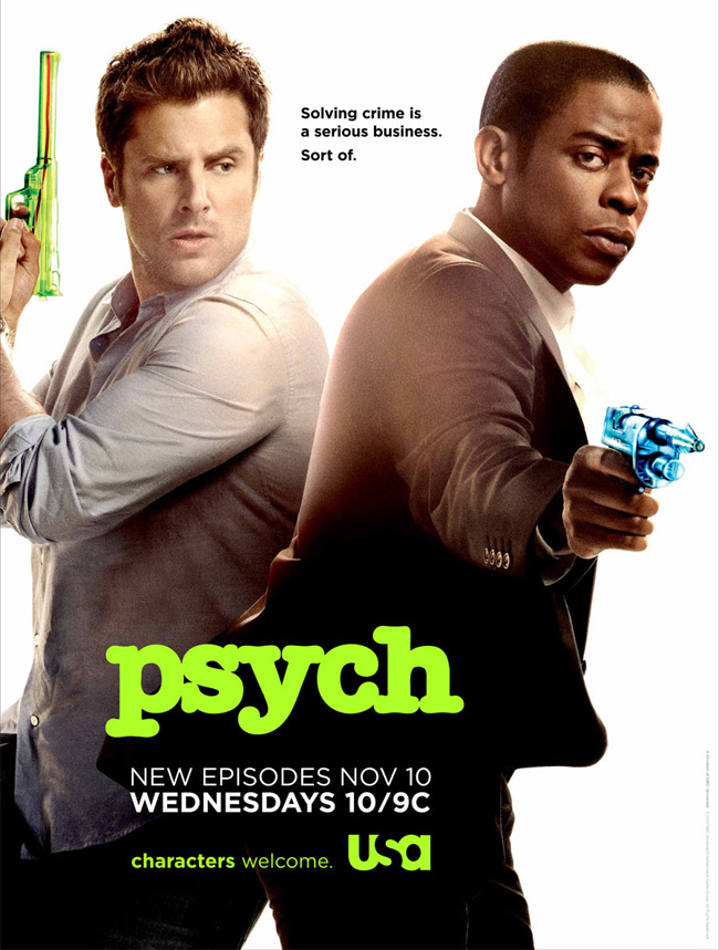 USA Network's Psych returns on Nov. 10, 2010