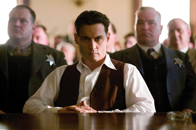 Johnny Depp in Public Enemies from Michael Mann
