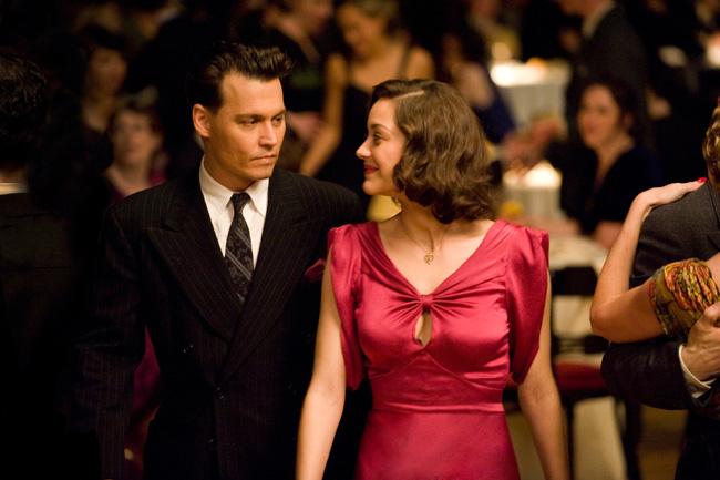 Johnny Depp and Marion Cotillard in Public Enemies from Michael Mann