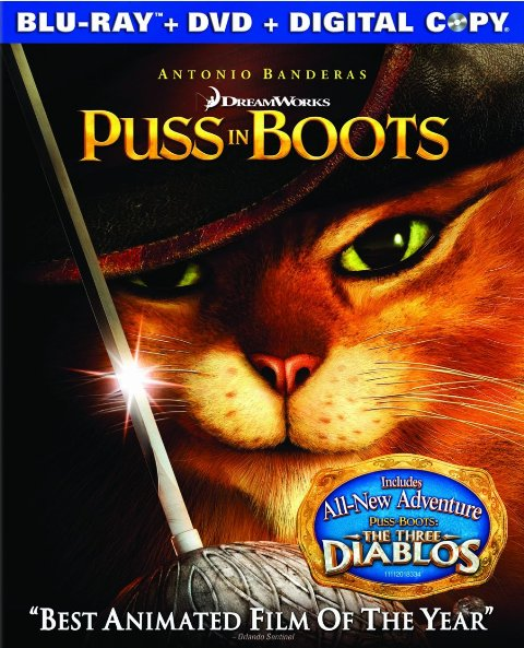 Puss in Boots released on Blu-ray and DVD on February 24, 2012
