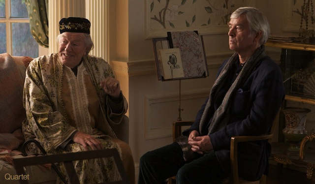 Michael Gambon and Tom Courtenay star in Dustin Hoffman's Quartet.