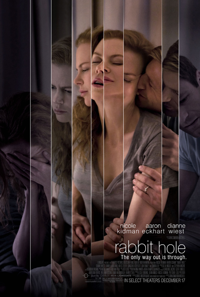 The movie poster for Rabbit Hole with Nicole Kidman and Aaron Eckhart
