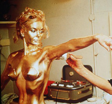 Shirley Eaton Gets the Gold Treatment in 'Goldfinger'