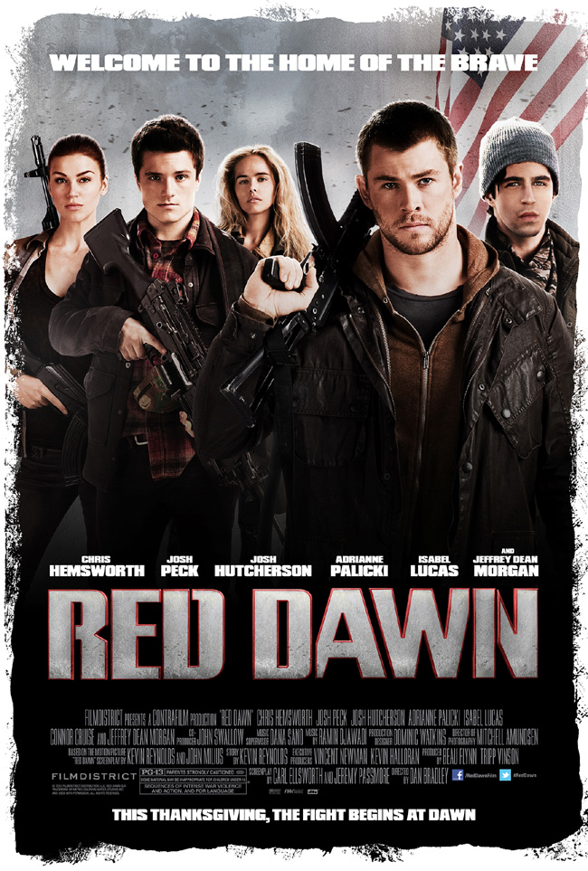 The movie poster for Red Dawn starring Chris Hemsworth and Josh Hutcherson