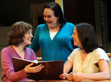 From left: Wendi Weber is Marlene, Penny Slusher plays Jan and Laura T. Fisher plays Beth in James Sherman's Relatively Close