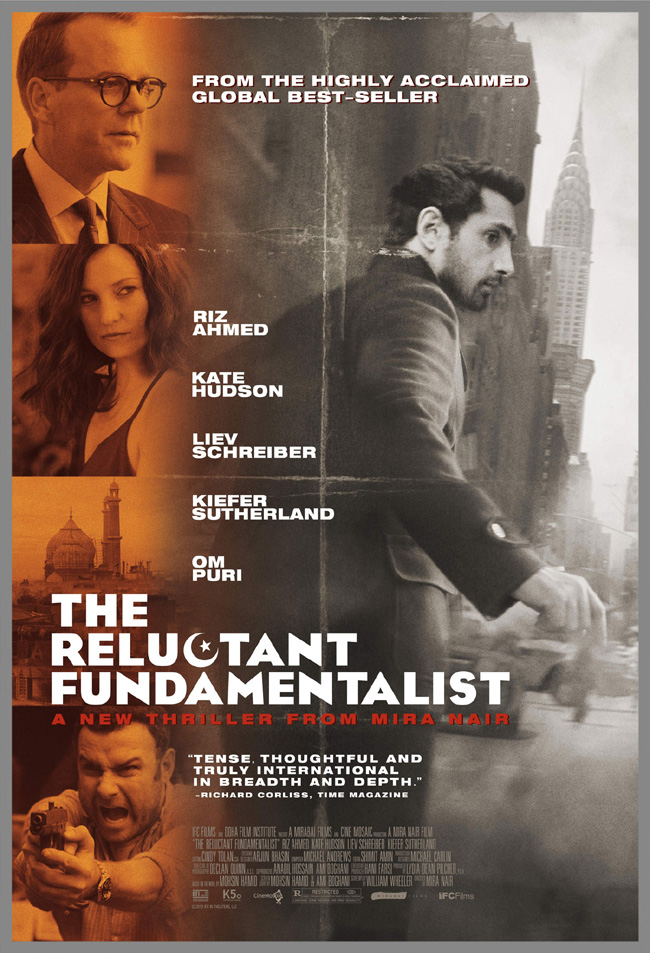 The movie poster for The Reluctant Fundamentalist starring Kate Hudson and Kiefer Sutherland
