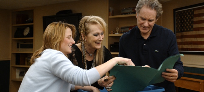 Mamie Gummer, Meryl Streep and Kevin Kline in Ricki and the Flash