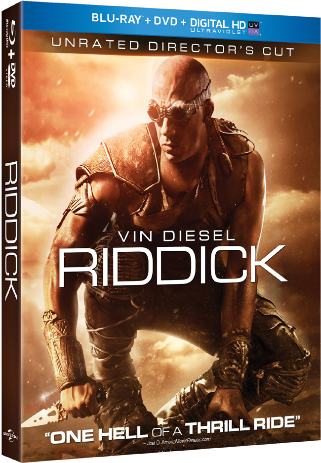Riddick with Vin Diesel comes to Blu-ray and DVD combo pack on Jan. 18, 2014