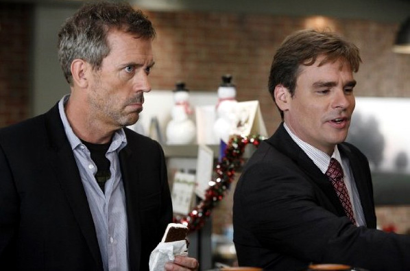 Hugh Laurie (left) and Robert Sean Leonard on House M.D.