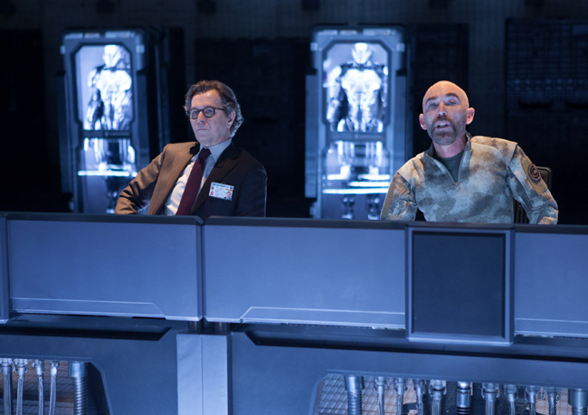 Gary Oldman and Jackie Earle Haley in RoboCop