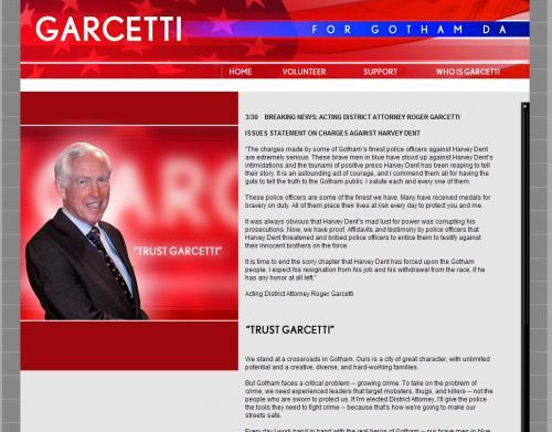 Roger Garcetti, The Dark Knight, TrustGarcetti.com